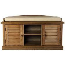 Weathered Oak Furniture Home Decorators Collection Weathered Oak 2 Door Storage Bench