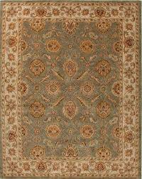 hand tufted oriental pattern green ivory wool area rug ay gold