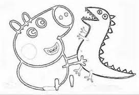 Peppa Pig George Dinosauro Dinosauri T Rex Mammina Papino Nonno Pig