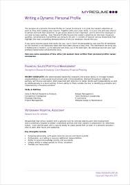 Cv Writing Examples Personal Profile Free 11 Personal Profile Samples In Pdf Doc