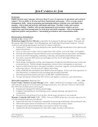Fascinating It Support Resume Samples For Technical Resume