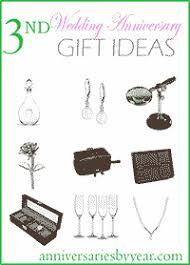 3rd wedding anniversary 3rd anniversary gift ideas