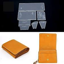 Leather Templates Nw Short Wallet Acrylic Template Wallet Leather Pattern Acrylic