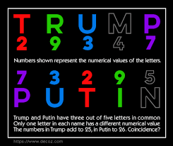 The Numerology Of Trump And Putin World Numerology