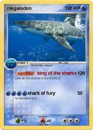 Small Picture Pokmon megalodon 279 279 king of the sharks My Pokemon Card