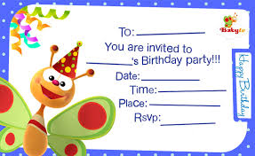 Birthday Invite Ecards Babytv Birthday Invitations