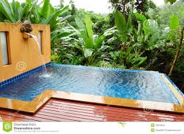 Outdoor Jacuzzi Outdoor Jacuzzi At The Luxury Villa Koh Chang Th Royalty Free