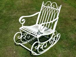 vintage metal outdoor rocking chairs s vintage metal rocking lawn chairs