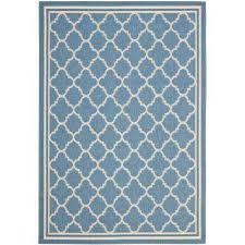 courtyard blue beige 8 ft x 11 ft indoor outdoor area rug