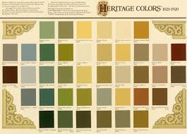 Victorian color palette. Generally used in 3 color combinations for  exterior.