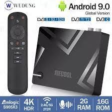 2021 MECOOL K5 Hybrid TV Box Android 9.0 Amlogic S905X3 Quad Core 2GB 16GB  2.4G 5G Dual WIFI Bluetooth DVB S2/T2 Set Top BOX|Set-top Boxes