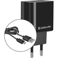 Сетевой адаптер <b>Defender UPC</b>-<b>21</b> 2xUSB,5V/2.1А кабель ...