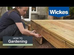 How to build a deck video Deck Stairs How To Build Raised Deck With Wickes Youtube How To Build Raised Deck With Wickes Youtube