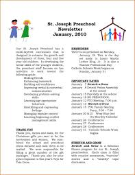 professional newsletter templates for word kindergarten newsletter template fresh preschool newsletter