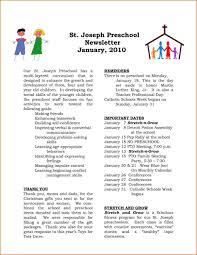 professional newsletter templates for word kindergarten newsletter template fresh preschool newsletter