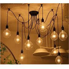 diy ceiling lighting. Vintage Multiple DIY Ceiling Light Adjustable Fitting Spider Lamp Pendant Bulb Diy Lighting
