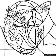 Small Picture 100 free coloring page of Wassily Kandinsky painting Black and