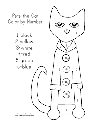 Coloring Page : Lovely Cat Color By Number Coloring Page Cat Color ...