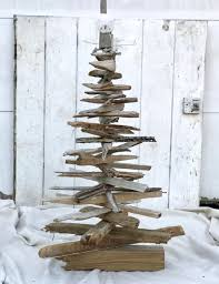 Rustic Driftwood Christmas Tree Standing Nearly 4 Feet Tall - Holiday Decor  - Wooden Christmas Tree