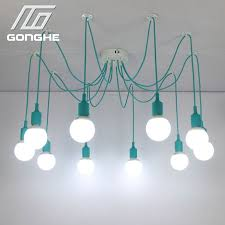 diy cable lighting. spider pendant lights 13 colors diy lighting multicolor silicone e27 bulb holder lamps home decoration 412 arms fabric cable diy c