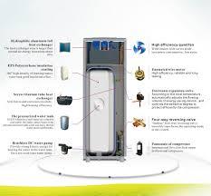 Heated Water Pump Air Source Heat Pump 8kw268l Durable Air Source Household Integral
