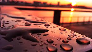 wallpaper light sunset water rain