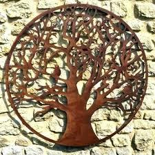 rustic metal wall hangings tree of life metal wall decor metal tree wall art large rustic