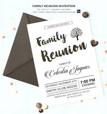reunion invitation ideas with