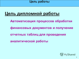 Презентация на тему Разработка автоматизированной системы сбора  3 3 Цель работы Цель дипломной