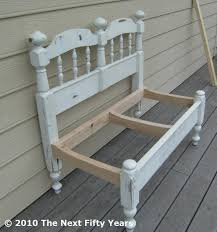 Bench Out Of Headboard Pekayuan Curved Garden Bench Plans