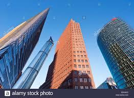 modern architecture skyscrapers. Wonderful Skyscrapers New Urban Development Modern Architecture Skyscrapers In Potsdamer Platz  Berlin Germany With Modern Architecture Skyscrapers D