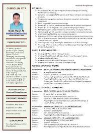 Civil Draughtsman Resume Sample Famous Resume Format For Civil
