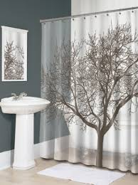 Splash Home Tree Mocha Eva Shower Curtain  Modern