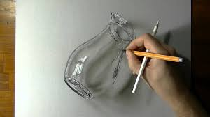 drawing a glass pitcher oil painting 3d art peak art on paper you