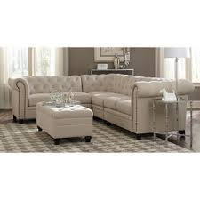nailhead sectional sofa. Brilliant Sectional Coaster Traditional Roy Oatmeal Linen Blend Fabric Nailhead Trim Sectional  Sofa And Ottoman To O