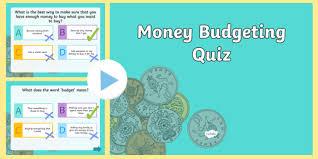Money Budgeting Quiz Plenary Powerpoint
