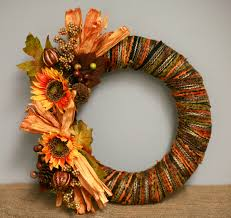 Make a Fall Wreath with Sunflowers