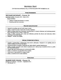 Examples Of Cashier Resumes Cashier Resume Examples Of Resumes