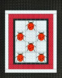 The Ladybug Quilt Pattern Makes an Adorable Gift for a Child or Adult & Get your free pattern templates and instructions for this ladybug quilt  below. Adamdwight.com