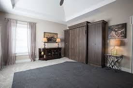 guest room wall bed closed shows flat style fronts
