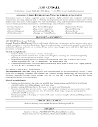 Sample Medical Resumes Sales Representative Res Sevte
