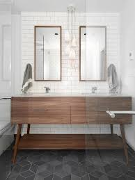 mid century modern bathroom vanity. Mid Century Modern Bathroom Vanities Pictures | Beatty St. Loft Cube Tile Floor Charcoal . Vanity E
