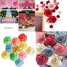 How To Make Paper Flower Backdrop 20 30 40cm Paper Flower Backdrop Wall Large Rose Flowers Diy Wedding