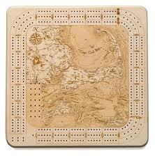 Cape Cod Wood Chart Cape Cod Cribbage Board