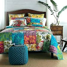 chic bedding grey quilts up for is a vibrant colourful king queen boho quilt size home fashions indigo 3 piece quilt set boho chic bedding crib