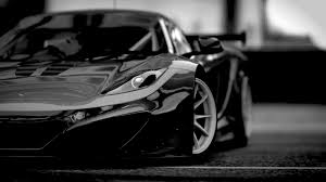 car wallpaper black and white