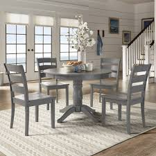 Wilmington II Round Pedestal Base Antique Grey 5-Piece Dining Set by  iNSPIRE Q Classic - Free Shipping Today - Overstock.com - 24188060