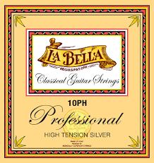 La Bella String Tension Chart La Bella 10ph High Tension Silver Classical Guitar Strings Full Set