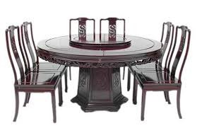 mandarin style dragon design round dining table incl 8 side chairs and 30