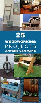 25 Easy DIY Woodworking Projects Anyone Can Make